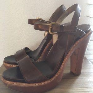Rustic Prada Platform Heels 💯% AUTHENTIC